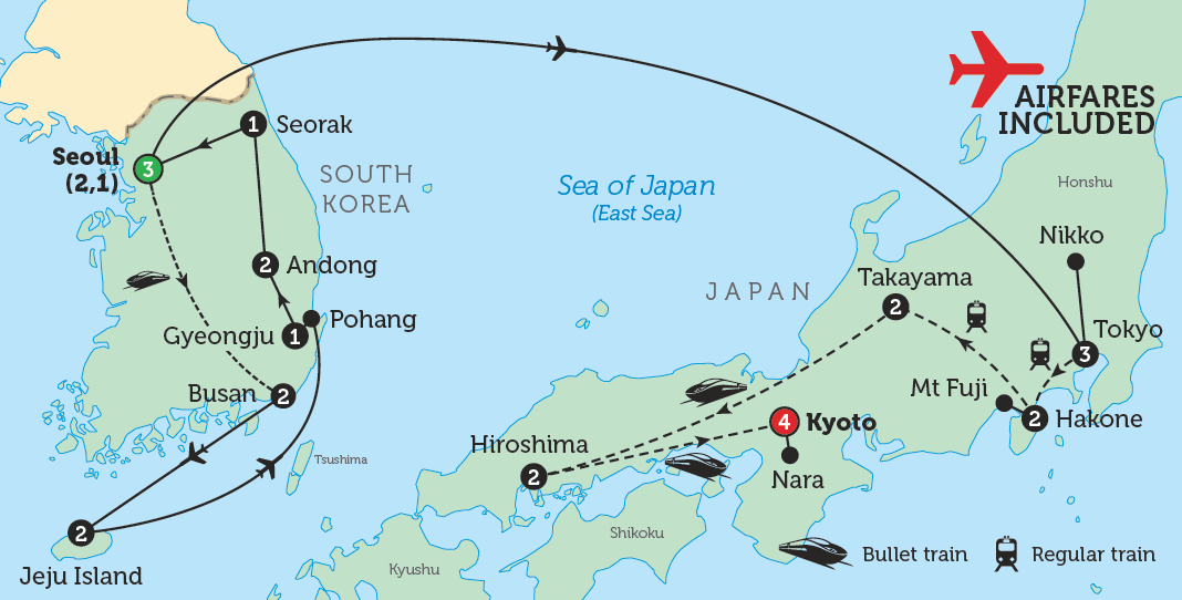 MapSouthKoreaJapan Strading - Map of japan and korea